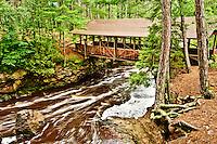 Covered bridge at Amnicon Falls State Park near Superior Wisconsin.