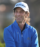 160211 Magical musician Kenny G during Thursday's First Round at The AT&T National Pro Am at The Pebble Beach Golf Links in Carmel, California. (photo credit : kenneth e. dennis/kendennisphoto.com)