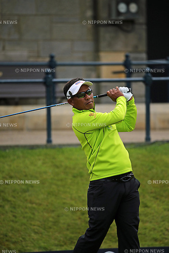 Thongchai Jaidee (THA), JULY 19, 2015 - Golf :<br /> Thongchai Jaidee of Thailand in action on the 1st hole during the third round of the 144th British Open Championship at the Old Course, St Andrews in Fife, Scotland. (Photo by Koji Aoki/AFLO SPORT)