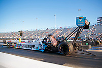 Oct 11, 2019; Concord, NC, USA; NHRA top fuel driver Justin Ashley during qualifying for the Carolina Nationals at zMax Dragway. Mandatory Credit: Mark J. Rebilas-USA TODAY Sports