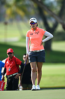 SINGAPORE - MARCH 02: Jeong Eun Lee of South Korea on the 1st green during the third round of the HSBC Women's World Championship 2019 at Sentosa Golf Club - Tanjong Course, Singapore on March 02, 2019.<br /> .<br /> .<br /> .<br /> (Photo by: Naratip Golf Srisupab/SEALs Sports Images)<br /> .<br /> Any image use must include a mandatory credit line adjacent to the content which should read: Naratip Golf Srisupab/SEALs Sports Images