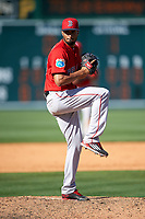 Boston Red Sox relief pitcher Williams Jerez (76) delivers a pitch during a Spring Training game against the Pittsburgh Pirates on March 9, 2016 at McKechnie Field in Bradenton, Florida.  Boston defeated Pittsburgh 6-2.  (Mike Janes/Four Seam Images)