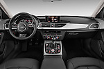 Straight dashboard view of a 2014 Audi A6 AVUS 5 Door Wagon 2WD