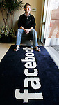 Facebook.com's mastermind, Mark Zuckerberg smiles at his office in Palo Alto, Calif. in this Feb. 5, 2007.
