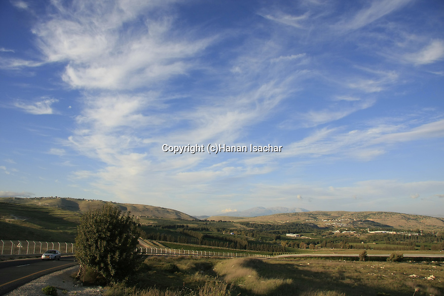 Israel, Upper Galilee, the old northern road by the Lebanese border