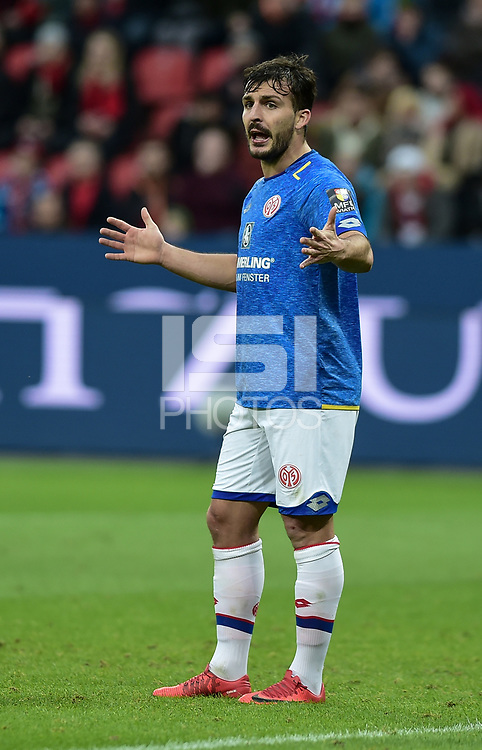 Football : Germany -1. Bundesliga  2017/18 <br /> Bayer Leverkusen 04 vs Mainz <br /> 28/01/2018 - Giulio Donati (FSV Mainz 05) *** Local Caption *** &copy; pixathlon<br /> Contact: +49-40-22 63 02 60 , info@pixathlon.de