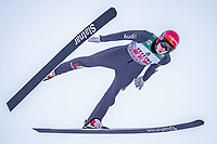 1st January 2020, Olympiaschanze, Garmisch Partenkirchen, Germany, FIS World cup Ski Jumping, 4-Hills competition; Constantin Schmid GER // Constantin Schmid of Germany during his trial Jump for the Four Hills Tournament of FIS Ski jumping, Skispringen, Ski, nordisch World Cup at the Olympiaschanze in Garmisch Partenkirchen, Germany on 2020/01/01. Garmisch Partenkirchen *** 01 01 2020, Olympic Jump, Garmisch Partenkirchen, GER, FIS World Cup Ski Jumping, Four Hills Tournament, Garmisch Partenkirchen, trial run, in the picture Constantin Schmid GER Constantin Schmid of Germany during his trial Jump for the Four Hills Tournament of FIS Ski Jumping World Cup at the Olympic Jump in Garmisch Partenkirchen, Germany on 2020 01 01 Garmisch Partenkirchen