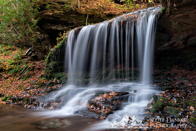 An easy trail leads to Lost Creek Falls, located near Cornucopia, Wisconsin.