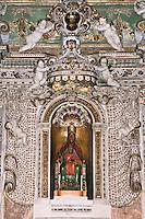 Santuario di Tindari, cappella di architettura barocca in cui &egrave; custodita la copia della statua della Madonna nera nell'antico santuario.<br /> Tindary old sanctuary, baroque art in the old sanctuary where is kept a copy of the statue of the Black Madonna