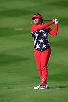 Megan Khang of Team USA on the 7th tee during Day 1 Foursomes at the Solheim Cup 2019, Gleneagles Golf CLub, Auchterarder, Perthshire, Scotland. 13/09/2019.<br /> Picture Thos Caffrey / Golffile.ie<br /> <br /> All photo usage must carry mandatory copyright credit (© Golffile | Thos Caffrey)