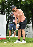 22nd July 2020; Blaine, Minnesota, USA;  Tommy Fleetwood lines up his tee shot during the 3M Open Compass Challenge at TPC Twin Cities in Blaine, Minnesota