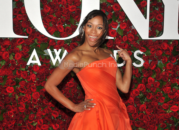 NEW YORK, NY - JUNE 12: Nikki M. James at the 70th Annual Tony Awards at The Beacon Theatre on June 12, 2016 in New York City. Credit: John Palmer/MediaPunch