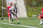 Costa Mesa, CA 03/08/14 - Stephen O'Hara (Notre Dame #4) in action during the Notre Dame Irish and Denver Pioneers NCAA Men's lacrosse game at LeBard Stadium in Costa Mesa, California as part of the 2014 Pacific Coast Shootout.  Denver defeated Notre Dame 10-7 in front of a crowd of over 5800 spectators.