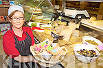 GRUBS UP: Eilish Stack of John R's Delicatessen in Listowel displaying some of the fine foods which will be available at the annual Food Fair in the town next month.