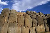 Cusco, Peru. Saqsayhuaman Inca ruins; massive polygonal stone construction.