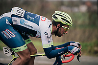 Ludwig De Winter (BEL/Wanty - Gobert) tucked for speed<br /> <br /> 71th Kuurne-Brussel-Kuurne 2019 <br /> Kuurne to Kuurne (BEL): 201km<br /> <br /> ©kramon