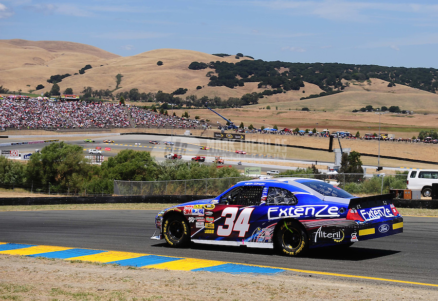 Jun. 20, 2010; Sonoma, CA, USA; NASCAR Sprint Cup Series driver Kevin Conway during the SaveMart 350 at Infineon Raceway. Mandatory Credit: Mark J. Rebilas-
