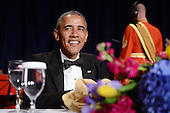 United States President Barack Obama smiles at the annual White House Correspondent's Association Gala at the Washington Hilton hotel April 25, 2015 in Washington, D.C. The dinner is an annual event attended by journalists, politicians and celebrities.<br /> Credit: Olivier Douliery / Pool via CNP