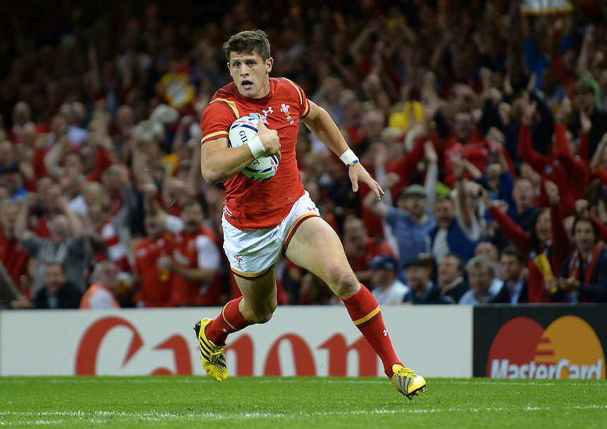 Wales' Lloyd Williams in action during todays match<br /> <br /> Photographer Ian Cook/CameraSport<br /> <br /> Rugby Union - 2015 Rugby World Cup - Wales v Uruguay - Sunday 20th September 2015 - Millennium Stadium - Cardiff<br /> <br /> &copy; CameraSport - 43 Linden Ave. Countesthorpe. Leicester. England. LE8 5PG - Tel: +44 (0) 116 277 4147 - admin@camerasport.com - www.camerasport.com