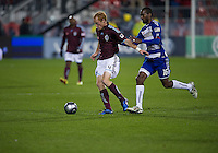 21 November 2010: Colorado Rapids midfielder Jeff Larentowicz #4 and FC Dallas forward/midfielder Atiba Harris #16 in action during the 2010 MLS CUP between the Colorado Rapids and FC Dallas at BMO Field in Toronto, Ontario Canada..The Colorado Rapids won 2-1 in extra time....