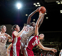 STANFORD, CA - February  10, 2011: Stanford Cardinal's Chiney Ogwukmike  during the Stanford vs Washington State game at Maples Pavilion in Stanford, California.