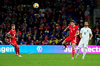 Ben Davies of Wales in action during the UEFA Euro 2020 Qualifier match between Wales and Azerbaijan at the Cardiff City Stadium in Cardiff, Wales, UK. Friday 06, September 2019