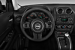 Steering wheel view of a 2017 Jeep Patriot Latitude