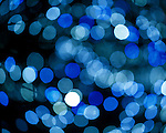 Abstract Blue Pattern (Out of Focus Christmas Lights)