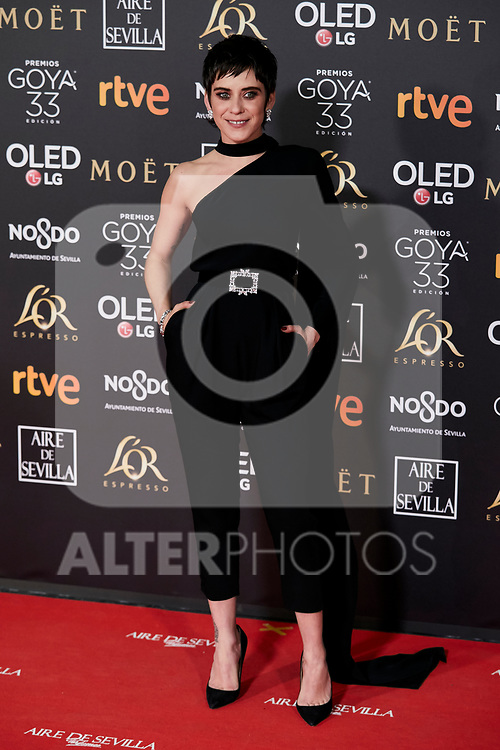 Maria Leon attends to 33rd Goya Awards at Fibes - Conference and Exhibition  in Seville, Spain. February 02, 2019. (ALTERPHOTOS/A. Perez Meca)