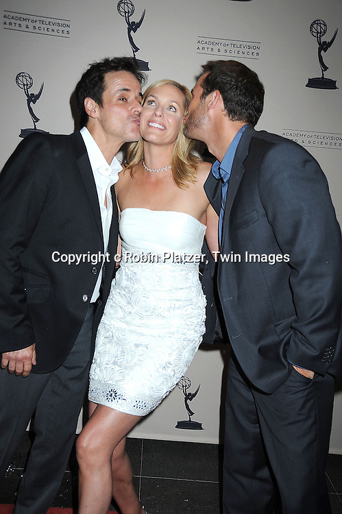 Arianne Zucker,Christian LeBlanc and Eric Martsoff attending the TV Academy's Daytime Programming Peer Group Cocktail Reception in honor of the 2010 Daytime Emmy Awards Nominees on .June 24, 2010 at SLS Hotel at Beverly Hills, California.