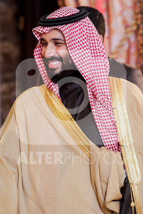 Arabia Saudi heir prince, Mohámed bin Salmán at Royal Palace in Madrid, Spain. April 12, 2018. (ALTERPHOTOS/Borja B.Hojas)