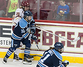Ryan Little (BC - 20), Jessica Jacques (Maine - 10) - The Boston College Eagles defeated the visiting University of Maine Black Bears 2-1 on Saturday, October 8, 2016, at Kelley Rink in Conte Forum in Chestnut Hill, Massachusetts.  The University of North Dakota Fighting Hawks celebrate their 2016 D1 national championship win on Saturday, April 9, 2016, at Amalie Arena in Tampa, Florida.