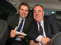 First Minister Alex Salmond on the campaign trail with Scottish Sun's Matt Bendoris.