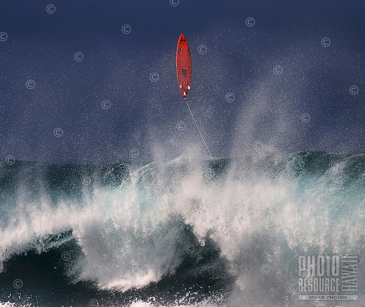 Let's go fly a surfboard over Banzai Pipeline's world-famous shorebreak winter waves off ofEhukai Beach Parkon the North Shore of O'ahu.