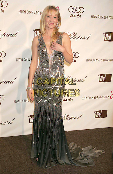 ANNE HECHE.14th Annual Elton John Oscar Party held at Pacific Design Center, Hollywood, California, USA..March 5th, 2006.Photo: Russ Elliot/AdMedia/Capital Pictures.Ref: RE/ADM.full length grey gray silver dress plunging neckline.www.capitalpictures.com.sales@capitalpictures.com.© Capital Pictures.