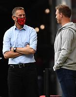 24th May 2020, Opel Arena, Mainz, Rhineland-Palatinate, Germany; Bundesliga football; Mainz 05 versus RB Leipzig; Trainer Achim Beierlorzer (FSV Mainz 05) with Trainer Julian Nagelsmann (RB Leipzig)