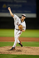 Bowie Baysox starting pitcher Matthew Grimes (38) delivers a pitch during the second game of a doubleheader against the Trenton Thunder on June 13, 2018 at Prince George's Stadium in Bowie, Maryland.  Bowie defeated Trenton 10-1.  (Mike Janes/Four Seam Images)