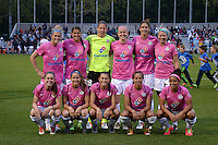 Kansas City, MO - Friday May 13, 2016: FC Kansas City starting XI against Chicago Red Stars  during a regular season National Women's Soccer League (NWSL) match at Swope Soccer Village. The match ended 0-0.
