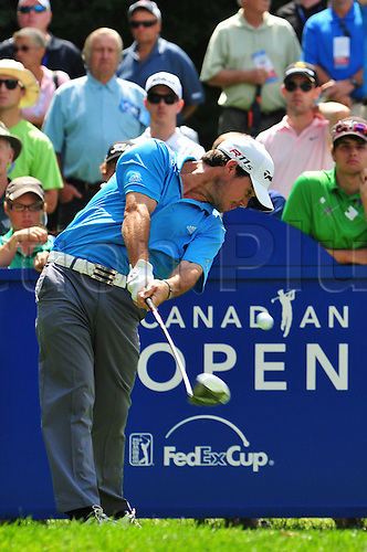 28.07.2012 Brian Harman hits on the 14th tee in the third round of the RBC Canadian Open at the Hamilton Golf and Country Club in Ancaster, Ontario.