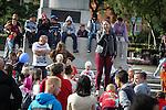 © Joel Goodman - 07973 332324 . 31 August 2013 . Rochdale , UK . Solo singer entertains the crowds . The Rochdale Feel Good Festival . Photo credit : Joel Goodman