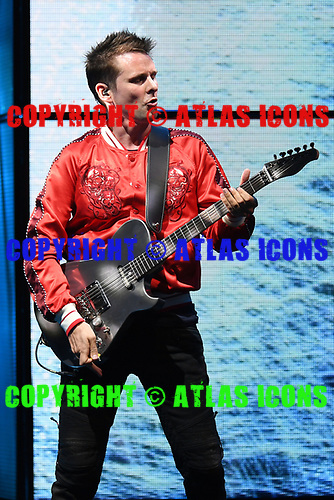 WEST PALM BEACH, FL - MAY 20: Matt Bellamy of Muse performs at The Perfect Vodka Amphitheater on May 20, 2017 in West Palm Beach Florida. Credit Larry Marano © 2017