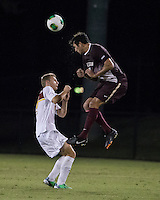 The Winthrop University Eagles played the College of Charleston Cougars at Eagles Field in Rock Hill, SC.  College of Charleston broke the 1-1 tie with a goal in the 88th minute to win 2-1.  Max Hasenstab (18), Connor Coons (17)