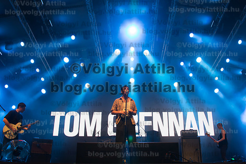 British singer-songwriter Tom Grennan performs on the A38 Stage at Sziget Festival held in Budapest, Hungary on Aug. 13, 2018. ATTILA VOLGYI