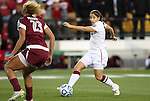 02 December 2011: Stanford's Teresa Noyola (right) and Florida State's Toni Pressley (23). The Stanford University Cardinal defeated the Florida State University Seminoles 3-0 at KSU Soccer Stadium in Kennesaw, Georgia in an NCAA Division I Women's Soccer College Cup semifinal game.
