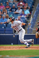 Detroit Tigers catcher Austin Green (71) at bat during a Spring Training game against the New York Yankees on March 2, 2016 at George M. Steinbrenner Field in Tampa, Florida.  New York defeated Detroit 10-9.  (Mike Janes/Four Seam Images)