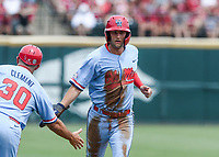 NWA Democrat-Gazette/CHARLIE KAIJO during game two of the College Baseball Super Regional, Sunday, June 9, 2019 at Baum-Walker Stadium in Fayetteville. Ole Miss forces a game three with a 13-5 win over the Razorbacks