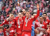 Robert Lewandowski FC Bayern Muenchen Sebastian Rode FC Bayern Muenchen Bastian Schweinsteiger FC Bayern Muenchen Thomas Mueller FC Bayern Muenchen <br /> Monaco 23.05.2015, Allianz Arena<br /> Bundesliga Bayern Monaco Campione di Germania 2014/2015 <br /> Foto EXPA/ Eibner-Pressefoto/ Insidefoto