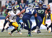 Antonio Brown #84 of the Pittsburgh Steelers in action against the Seattle Seahawks during the game at CenturyLink Field on November 29, 2015 in Seattle, Washington. (Photo by Jared Wickerham/DKPittsburghSports)