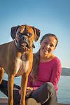 Rocky, boxer dog female owner.