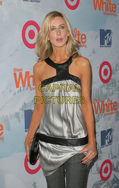 "LADY VICTORIA HERVEY.""Shaun White Snowboarding"" Video Game Launch Party held at Boulevard 3, Hollywood, California, USA..November 11th, 2008.half length grey gray silver silk satin top clutch bag halterneck .CAP/ADM/TC.©T. Conrad/AdMedia/Capital Pictures."